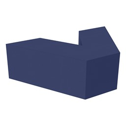"Shapes Series II Vinyl Soft Seating V-Shape (18"" H) - Navy"