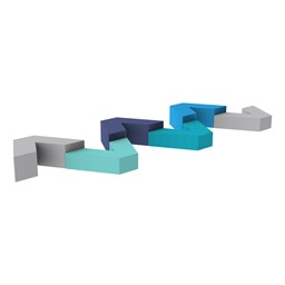Shapes Series II Vinyl Soft Seating V-Shapes