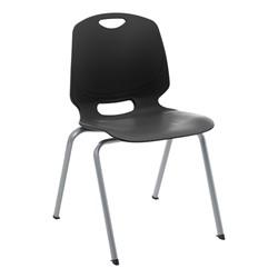 Academic Stack Chair - Black