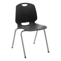 Academic Stack Chair - Black
