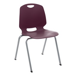 Academic Stack Chair - Eggplant