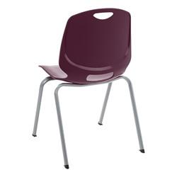 Academic Stack Chair - Eggplant - Back