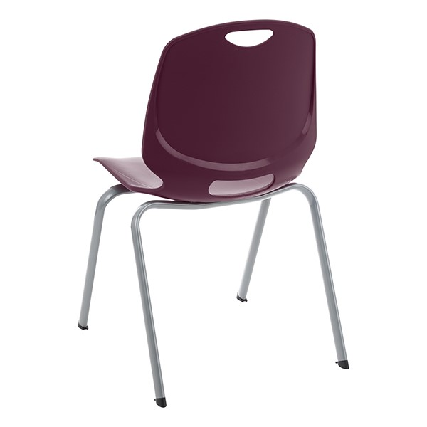 Academic Stack Chair - Eggplant - Back