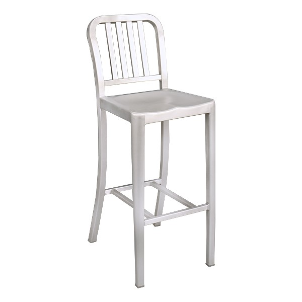 "Aluminum Café Stool -30 1/8"" Seat Height"