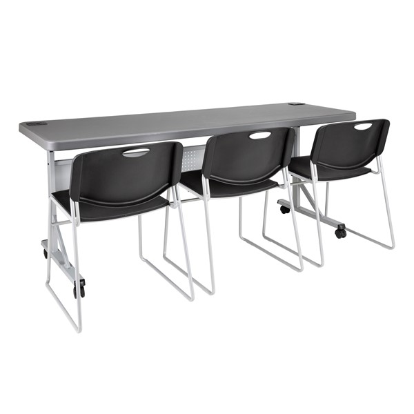 Flip & Store Blow-Molded Nesting Table - Chairs not included