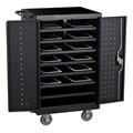 Structure Series 12-Device Laptop/Tablet Assembled Charging Cart - Black