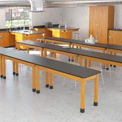Metal Lab Stool - Fixed Height - Lab Setup