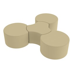 "Shapes Series II Vinyl Soft Seating - Cog (18"" High) - Grouped"