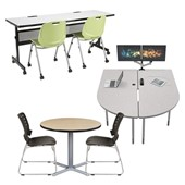 Library Tables & Media Center Tables