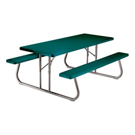 Rectangle Folding Picnic Table - Hunter Green