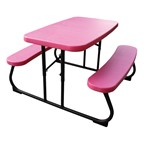 Children's Rectangle Picnic Table  - Pink