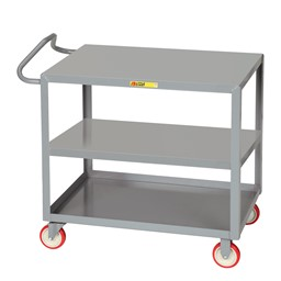 Ergonomic Shelf Truck w/ 3 Shelves