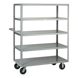 "Multi-Shelf Truck w/ Five Flush Shelves (30"" W x 60\"" L x 63\"" H)"