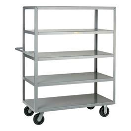 "Multi-Shelf Truck w / Five Flush Shelves (24\"" W x 36\"" L x 63\"" H)"