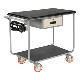 "Electrically Wired Instrument Cart w/ Drawer<br>Shown w/ 5"" casters"