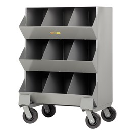 Welded-Steel Mobile Storage Bin – Nine Compartments