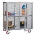 Mobile Storage Locker w/ Center Shelf