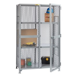 All-Welded Storage Locker with Two Adjustable Shelves