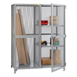 All-Welded Storage Locker with Two Half Shelves