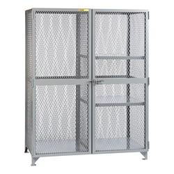 All-Welded Storage Locker w/ Two Half Shelves