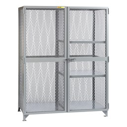All-Welded Storage Locker w/ Two Half Shelves