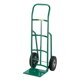 Reinforced Nose Hand Truck w/ Continuous Handle & Solid Rubber Tires