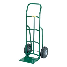 Reinforced Nose Hand Truck w/ Continuous Handle & Pnuematic Tires