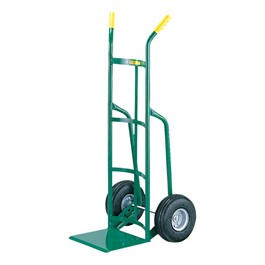 Reinforced Nose Hand Truck w/ Straight Handles & Pneumatic Tires