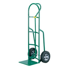 Reinforced Nose Hand Truck w/ Loop Handle & Solid Rubber Tires