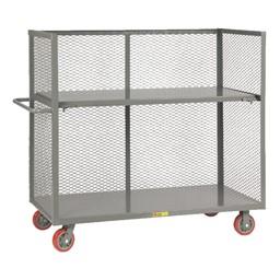 Bulk Handling Truck w/ Mesh Sides & Shelf