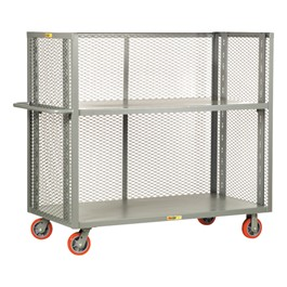 Bulk Handling Truck w/ Mesh Sides & Adjustable Shelf