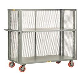 Bulk Handling Truck w/ Mesh Sides & Adjustable Shelf