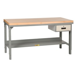 Adjustable Height Workbench w/ Butcher Block Top