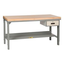Adjustable Height Workbench w/ Butcher Block Top