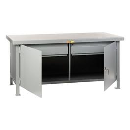Heavy-Duty Cabinet Workbench w/ Two Drawers