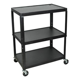 Extra-Large Adjustable Steel AV Cart