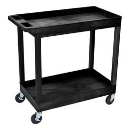 """Multi-Purpose Tub Cart w/ Two Tub Shelves (35 1/4"""" W) - Black"""