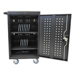 Vertical Tablet Charging Cart w/ Key Lock