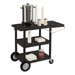 Serving Cart w/ Three-Outlet Power Strip