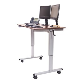 "Crank-Adjusted Stand-Up Desk - 48"" W"