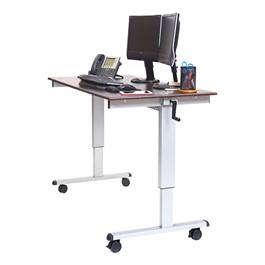 "Crank-Adjusted Stand-Up Desk - 60\"" W"