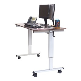 "Crank-Adjusted Stand-Up Desk - 60"" W"