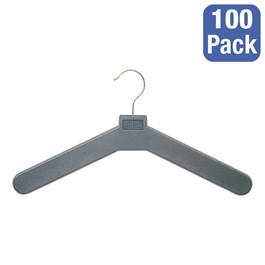 Molded Polystyrene Open Hook Hanger - Pack of 100 - Charcoal