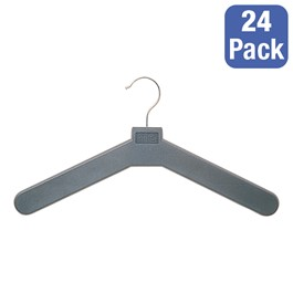 Molded Polystyrene Open Hook Hanger - Pack of 24 - Charcoal
