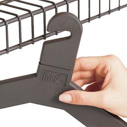 Molded Polystyrene Theft Deterrent Hanger - Pack of 24 - Charcoal Gray