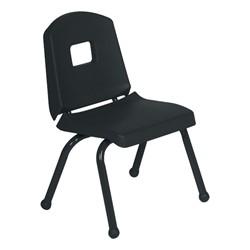 "Split-Bucket Preschool Chair (12"" Seat Height) - Black"