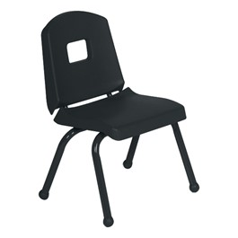 "Split-Bucket Preschool Chair (12"" Seat Height) - Black"