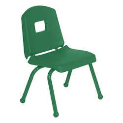 "Split-Bucket Preschool Chair (12"" Seat Height) - Forest Green"