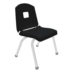 Split-Bucket Preschool Chair - Black