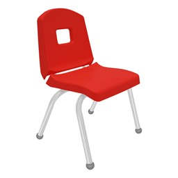 Split-Bucket Preschool Chair - Red